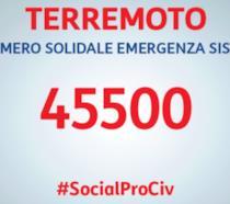 45500 è il numero per inviare un SMS solidale di 2 euro per le popolazioni colpite dal Terremoto