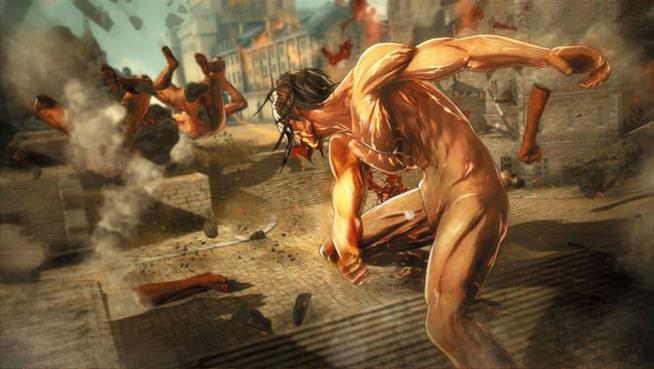 Attack on Titan, videogame: il personaggio del titano giocabile