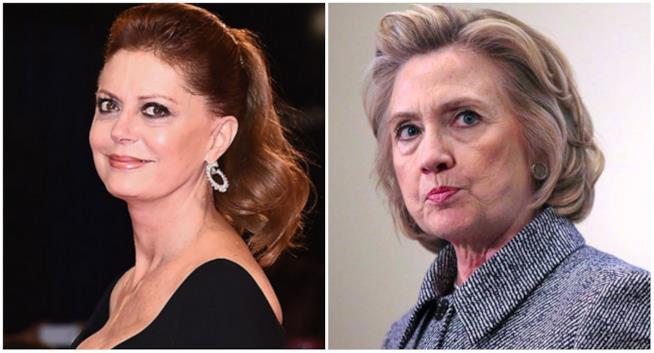 Susan Sarandon e Hillary Clinton