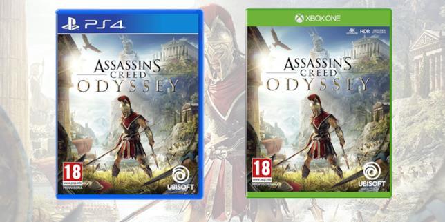 La boxart di Assassin's Creed Odyssey
