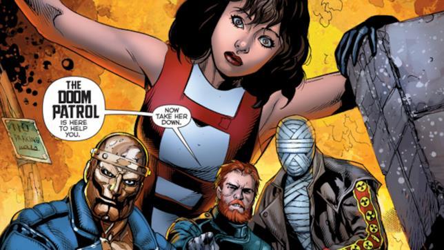 Disegno estratto da una pagina di Doom Patrol, fumetto DC
