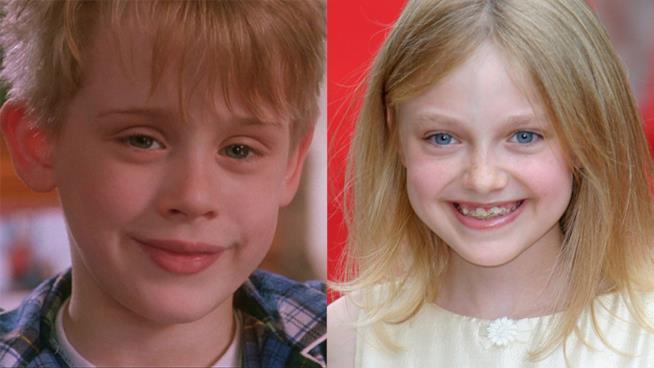 Macaulay Culkin e Dakota Fanning da bambini