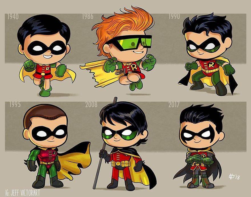 L'evoluzione delle icone della cultura pop: Robin