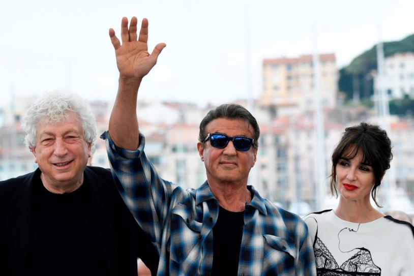 Sylvester Stallone e Paz Vega sul red carpet di Cannes