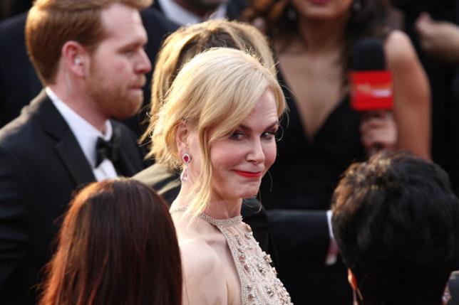 Un buffo primo piano di Nicole Kidman