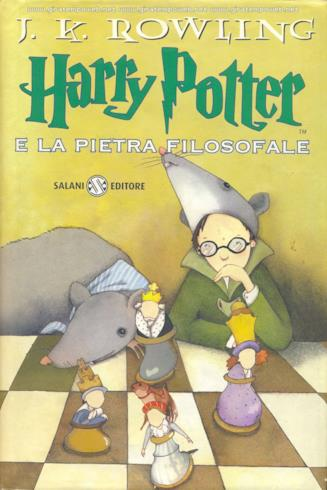 Harry Potter e la pietra filosofale, il primo romanzo della saga ideata da J.K. Rowling