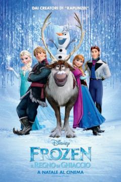 Tutti i protagonisti di Frozen nel poster italiano