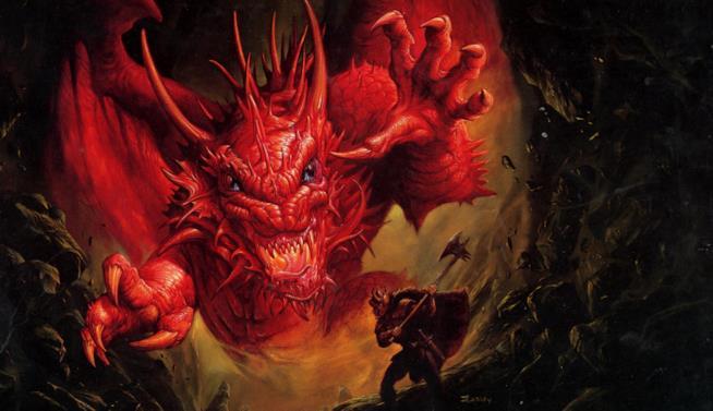 Il drago simbolo del manuale fantasy del gioco di ruolo di Dungeons & Dragons