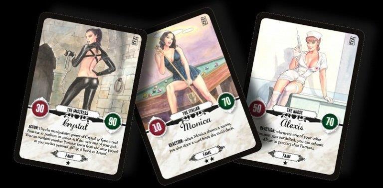Le card di Red Light - A star is Porn disegnate dal maestro Manara