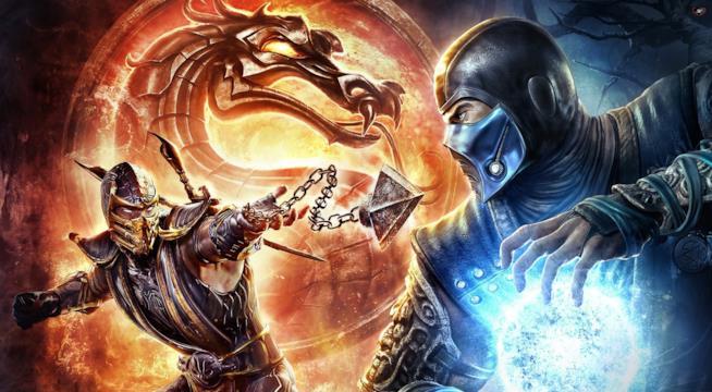 Scorpion combatte con Sub-Zero in un artwork di Mortal Kombat X