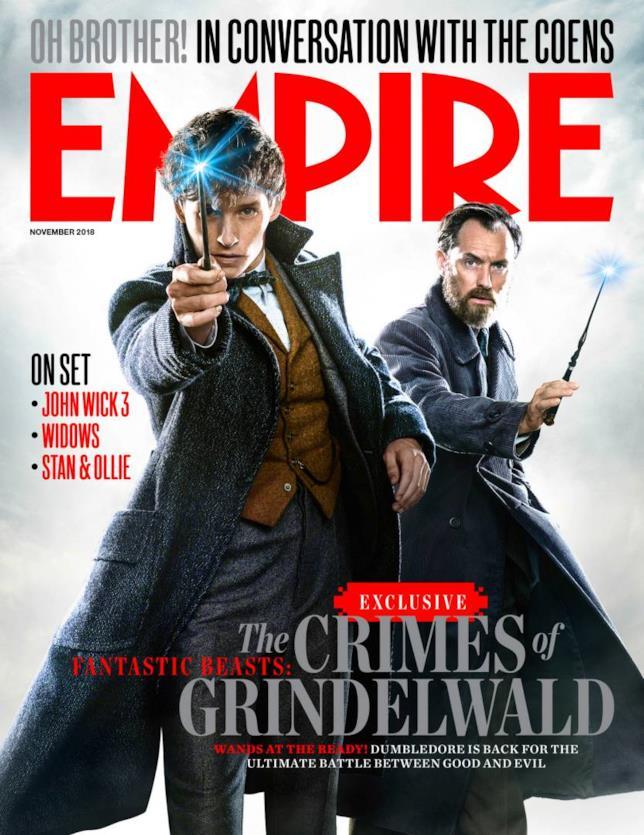 La cover di Empire Magazine dedicata ad Animali Fantastici 2
