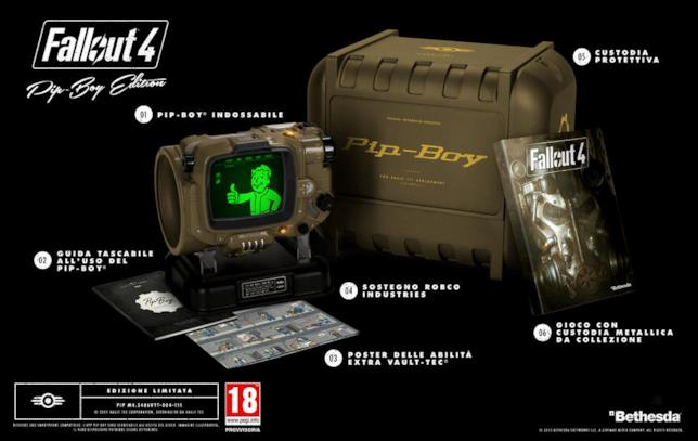 Fallout 4 e la sua Pip-Boy Edition