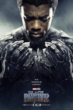 Chadwick Boseman è T'Challa nel character poster del film Black Panther