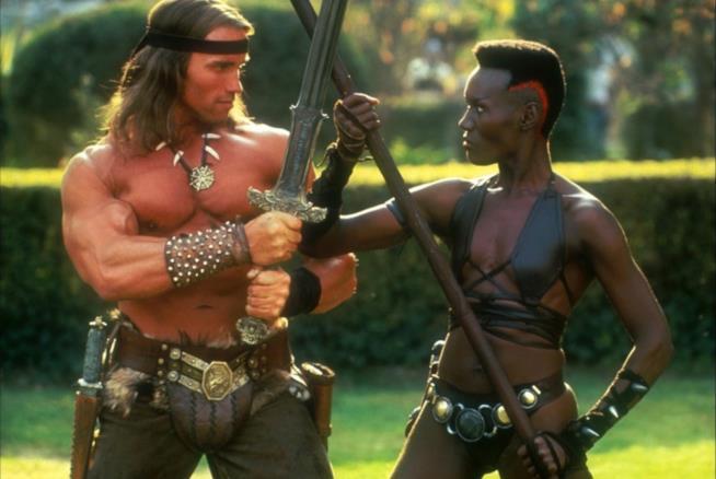 Arnold Schwarzenegger all'epoca di Conan il barbaro