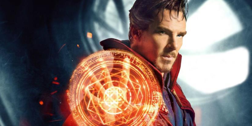Un primo piano di BenedictCumberbatch in un'immagine promozionale di Doctor Strange