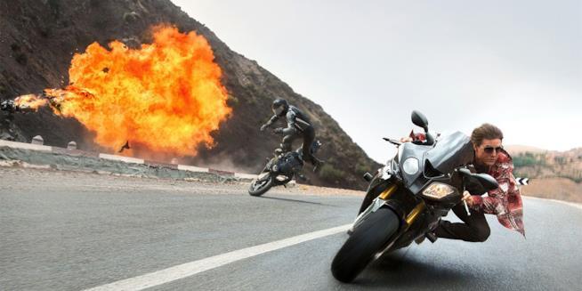 Una scena d'azione di Mission Impossible 6