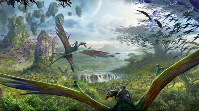 Il mondo di Pandora e le sue creature volanti