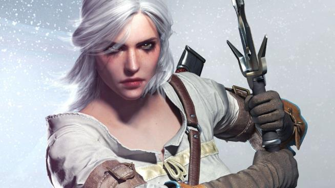 Un concept art di Ciri da The Witcher 3: Wild Hunt