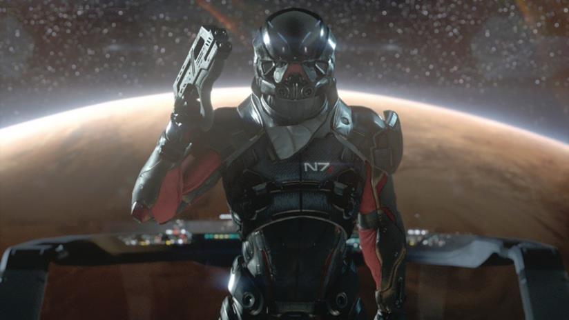 Un ritratto di Ryder visto nel trailer di Mass Effect: Andromeda
