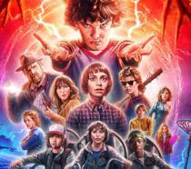 Il poster della seconda stagione di Stranger Things