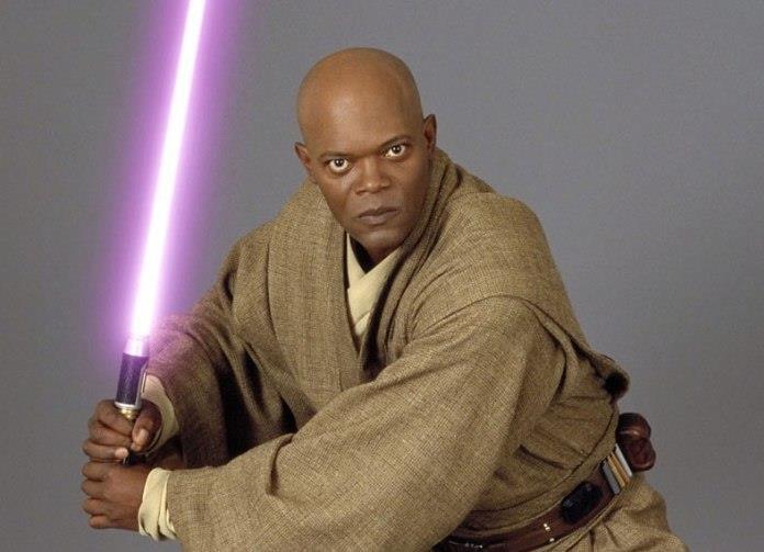 Il maestro Jedi interpretato da Mace Windu