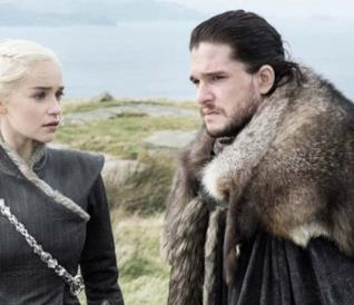 Daenerys e Jon Snow da Game of Thrones