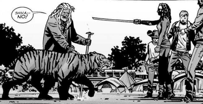 Ezekiel incontra Rick e i suoi nei fumetti