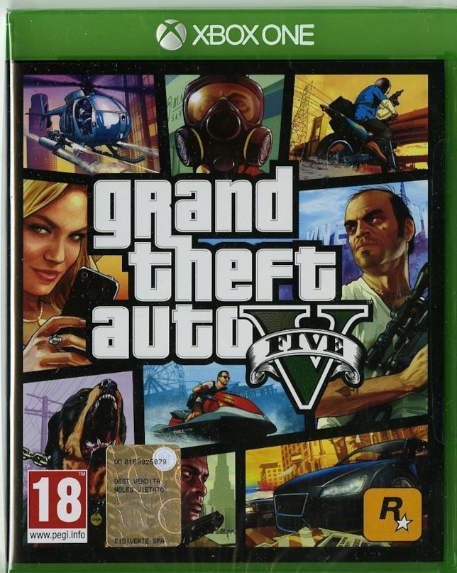 Packshot di GTA V per Xbox One
