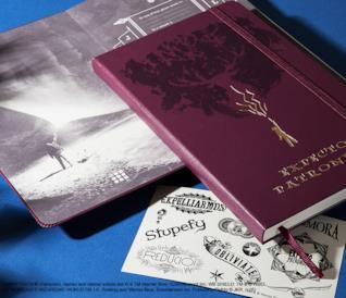 Due oggetti della limited edition di Harry Potter di Moleskine