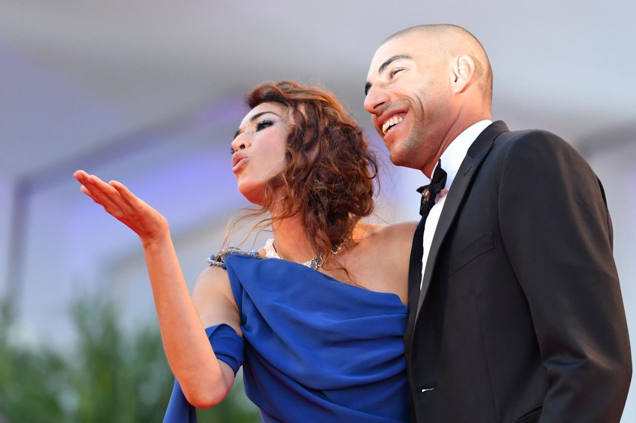 Omar Hassan e Nina Zilli fotografati a Venezia