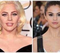 Primo piano di Lady Gaga e Selena Gomez