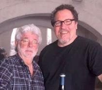 Jon Favreau e George Lucas in una foto condivisa da Favreau su Instagram