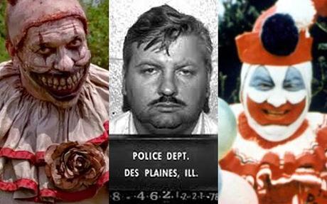 John Wayne Gacy e Twisty, il clown di AHS: Freak Show