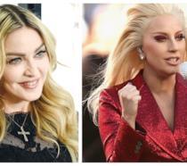 Primo piano di Madonna e Lady Gaga