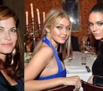 Primo piano di Stephanie Seymour, Gigi Hadid e Kendall Jenner