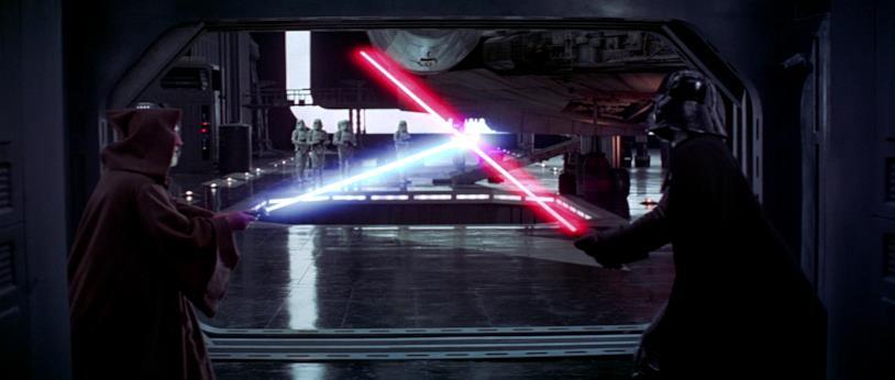 Una scena tratta dal film Star Wars: Episodio IV - Una nuova speranza