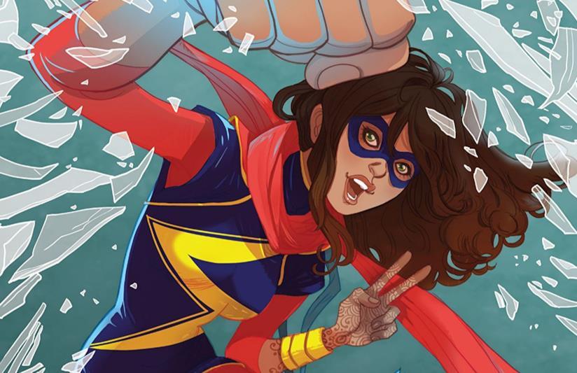 Dettaglio della cover di Ms. Marvel Vol. 3: Crushed