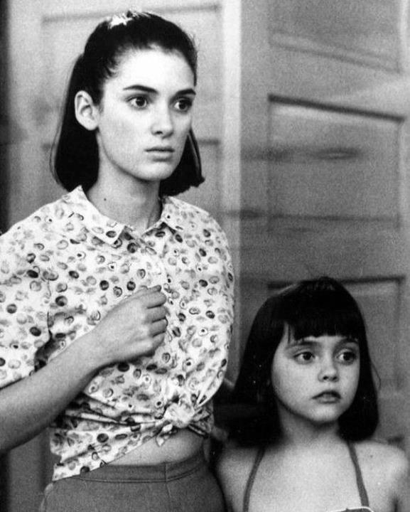 1990: Winona Ryder e Christina Ricci