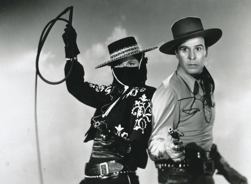 Linda Stirling e George J. Lewis nel film La frusta nera di Zorro