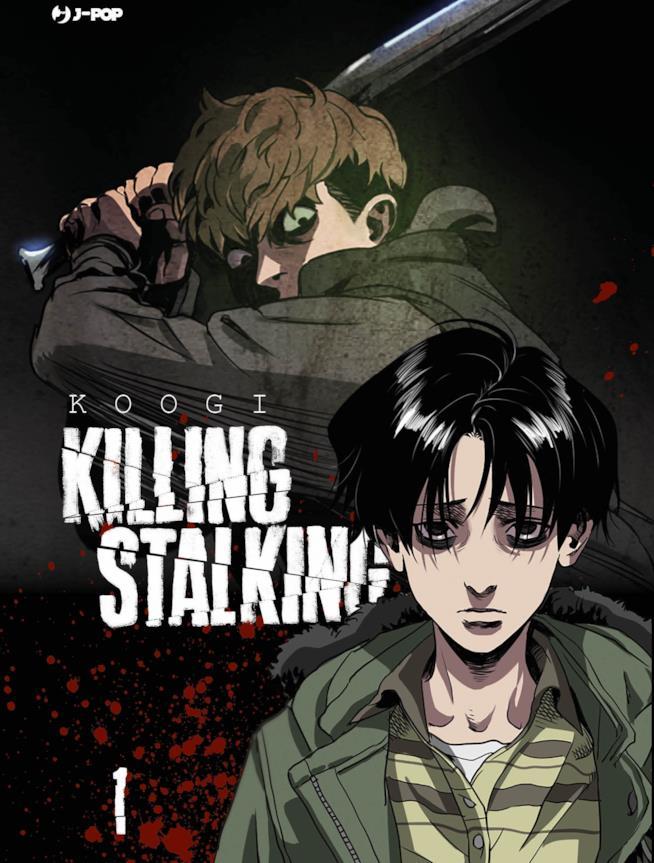 La copertina del primo volume dell'edizione italiana di Killing Stalking mostra i due protagonisti