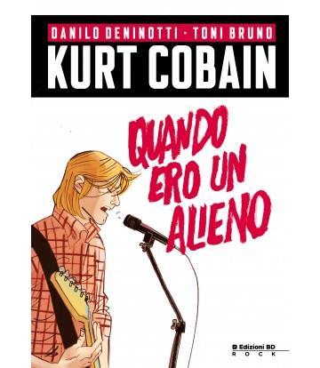 La copertina del libro a fumetti Kurt Cobain. Quando ero un alieno