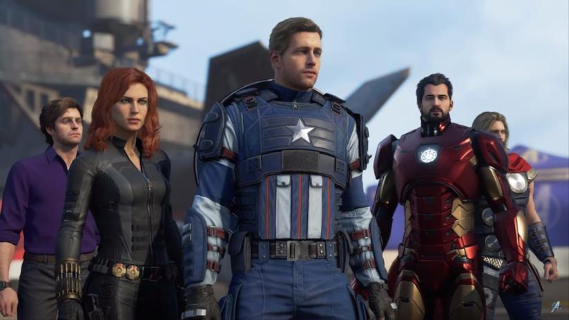 I protagonisti di Marvel's Avengers in un'immagine promozionale