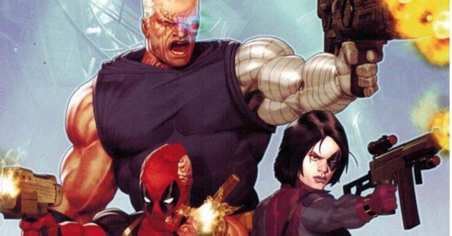 In foto Deadpool, Cable e Domino