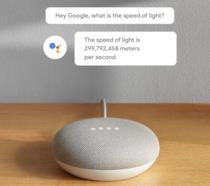 Immagine promozionale di Google Home Mini