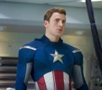 Chris Evans nei panni di Capitan America in The Avengers