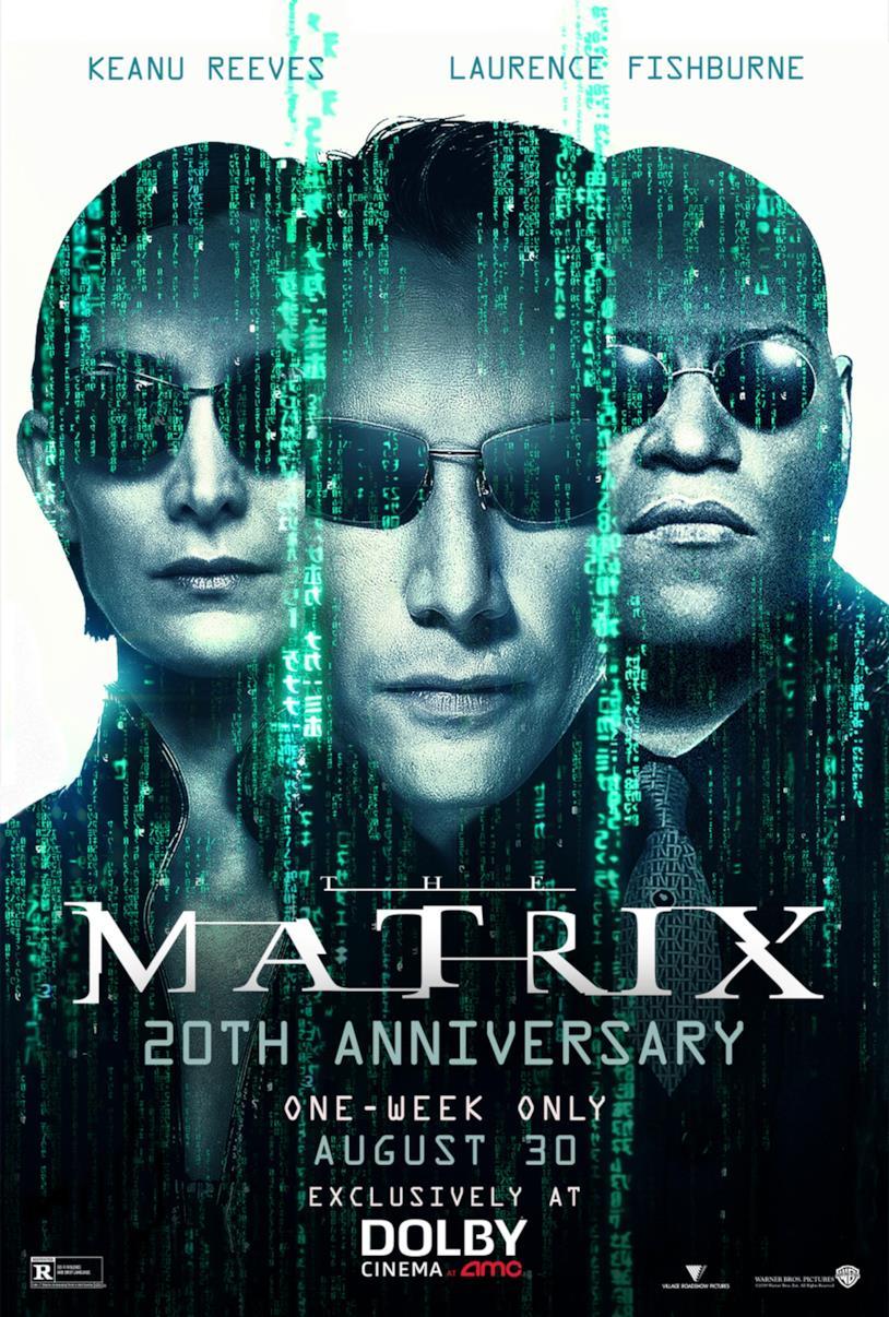 Il poster di Matrix per i 20 anni
