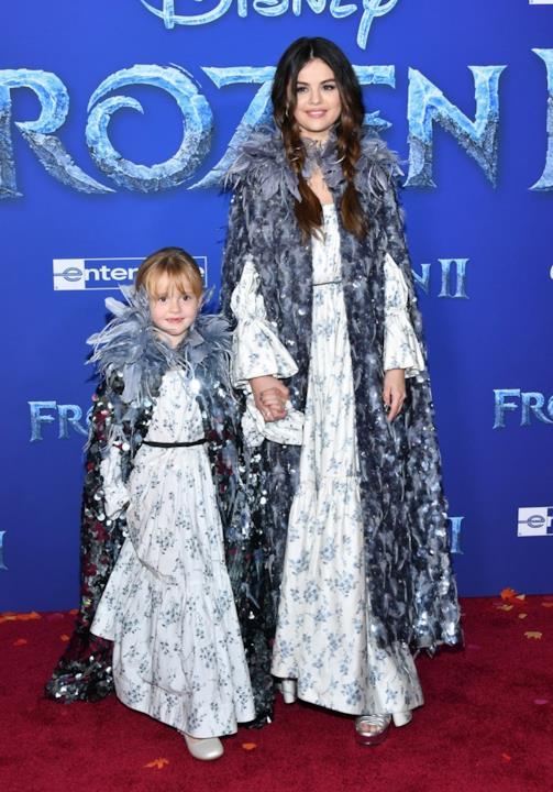 Selena Gomez e Gracie alla prima di Frozen 2