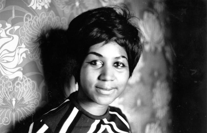 Aretha Franklin in una vecchia foto