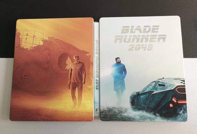 Steelbook aperto di Blade Runner 2049