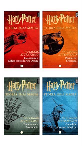 I quattro e-book della serie Harry Potter: Storia della Magia - Un Viaggio Attraverso...